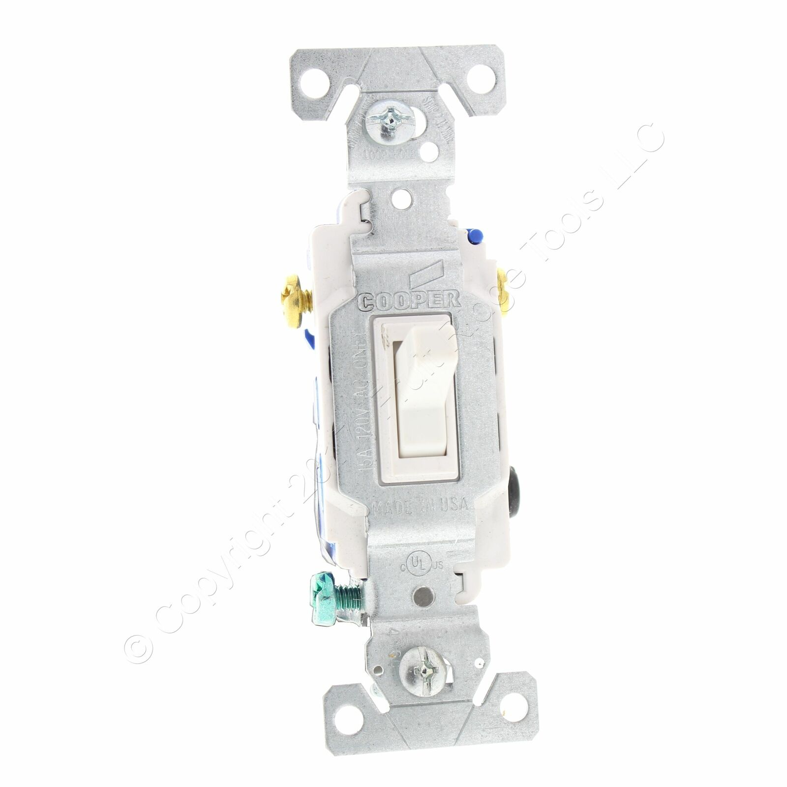 Hubbell Bryant White 3-Way COMMERCIAL Toggle Light Switch 15A 120//277V CS315W
