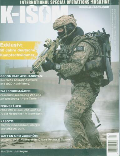 K-ISOM 4//2014 Spezialkräfte Magazin Kommando Bundeswehr Waffe Eliteeinheiten Fal
