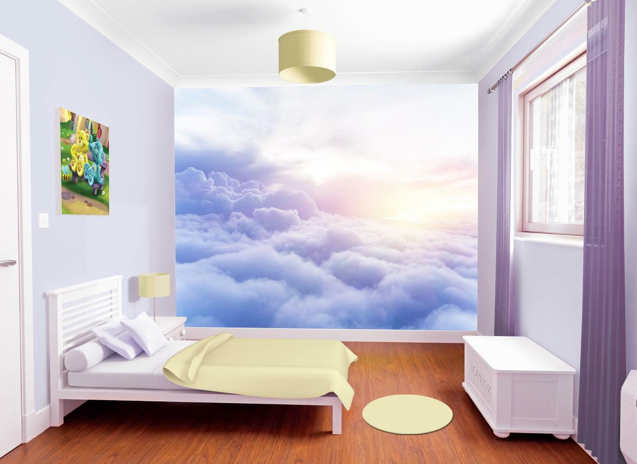 Photo Wallpaper Wall Mural Woven Self-Adhesive Art Clouds Sunrise Sunset M21