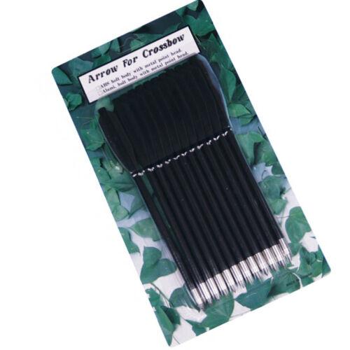 Crossbow 12 Plastique flèches pour pistolets arbalète longueur 16 cm Ø 6 mm Noir