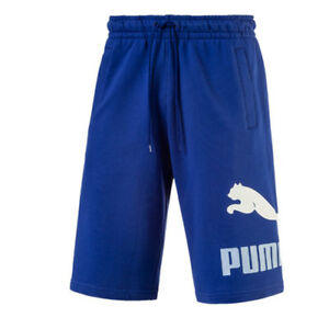 Image is loading Puma-Archive-Logo-Sweat-Black-Bermuda-Long-Shorts-