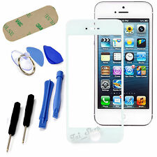 New White Front Outer Screen Glass Lens Replacement For iPhone 5 5S 5C + Tools