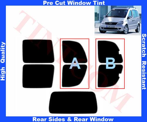 Pre Cut Window Tint Mercedes Vaneo 5D  02-06 Rear Window /& Rear Sides Any Shade