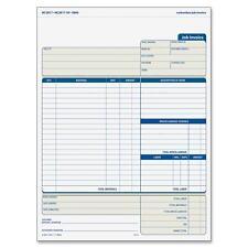 """Adams Job Invoice Forms 2-Part Corbels 100 St./BK 8-1/2""""x11-7/16"""" NC2817"""