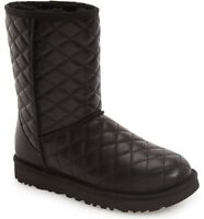 Ugg Australia Classic Short Leather Diamond Quilted Boots Us 6 7 8 9 10 11