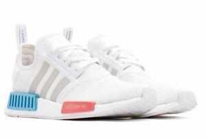 Details about Adidas NMD R1 W # FX7074 White Rose Blue Metallic Women