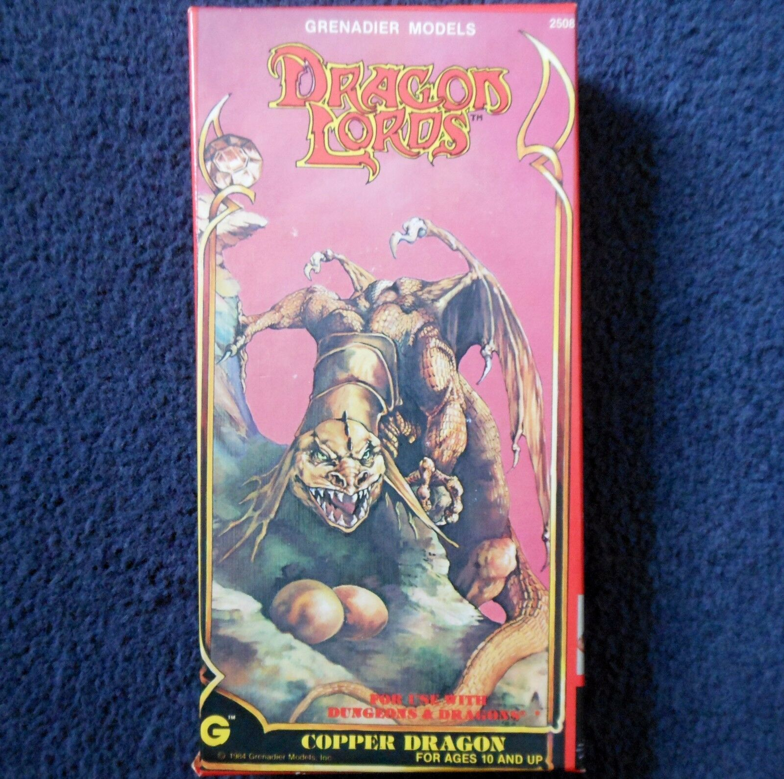 1984 kupfer drachen lords grenadier - modelle 2508 dungeons & dragons ad & d wyrm