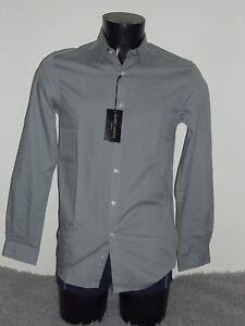 meilleur service 7ac2c 3eb5b Détails sur PROMO -60% ♥ chemise homme GALERIES LAFAYETTE Taille 37/38 Pur  coton neuf Gris
