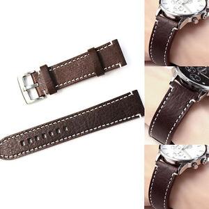 Leder-Uhrenarmband-Uhrenband-Uhrband-Armband-Vintage-Look-18mm-20mm-22mm-Zu-D2D7