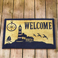 Lighthouse Decor Outdoor Welcome Mats For Front Door Porch Patio Decorating Idea