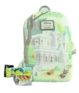 Disney Loungefly Lady And The Tramp Loved One Mansion Mini Backpack Card Ebay