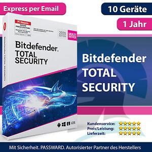 Bitdefender Total Security 2021 Multi-Device   10 Geräte / PC 1 Jahr (365 Tage)