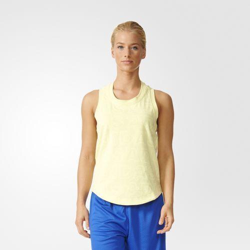 TOUT NOUVEAU € 48 Débardeur graphique Adidas pour femmes Ice Yellow AX7434