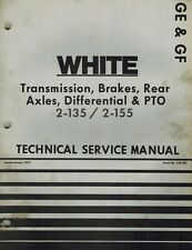 White 2 135 2 155 Tractors Trans Brakes Diff Pto Technical Manual