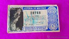 LOTERIA NACIONAL ORIGINAL, PARTICIPACION, COFRADIAS DE SEMANA SANTA DE MALAGA