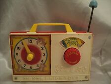 Fisher Price Kids Toy c.1971 Musical  Windup Hickory Dickory Dock Clock Toy #107