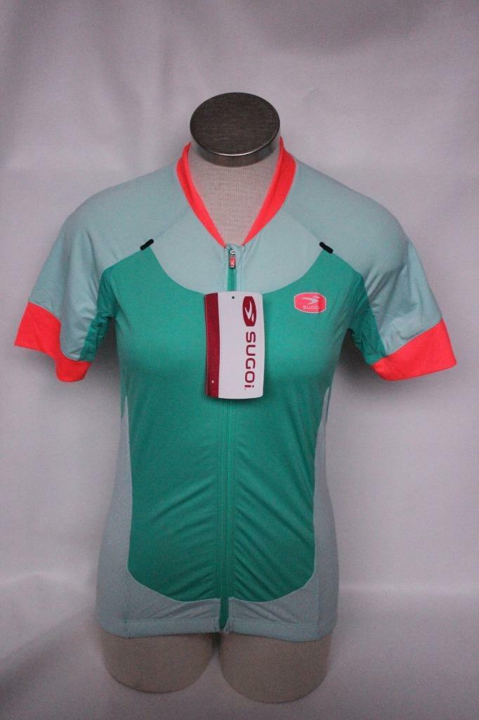 New Sugoi Women's RS Pro Jersey Cycling Bike Medium Green Short Sleeve