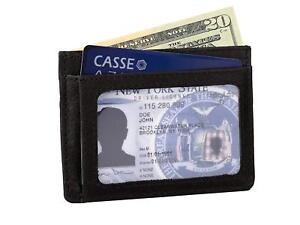 Front Pocket Wallet Money Leather RFID Blocking ID Credit Card Slim Holder