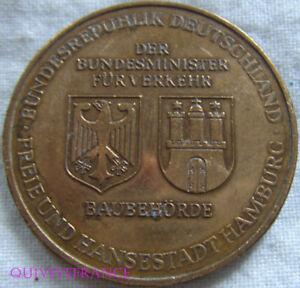 Med7439 - Medaille Jeton Hamburg Elbtunnel 1968-1975