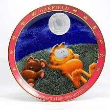 """Garfield Collector Plate """"Dreams Can Take You Anywhere"""" w/ COA"""