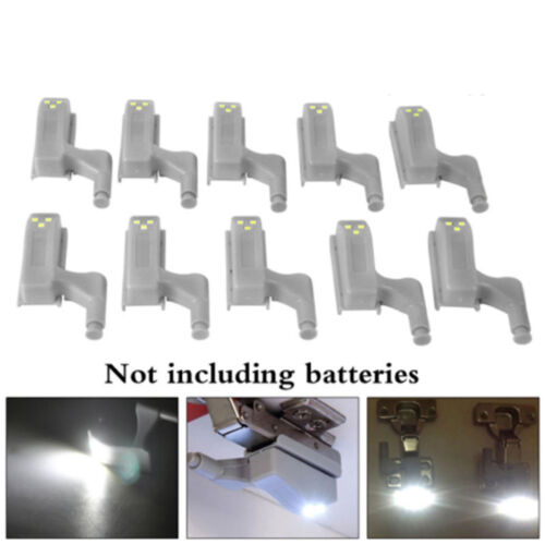 1//10× LED Sensor Light Kitchen Cabinet Cupboard Closet Wardrobe Hinge Lights W//A