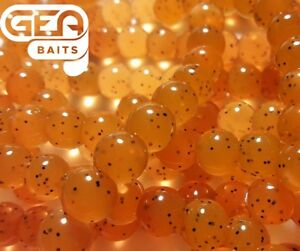 Salmon Eggs ORANGE BLACK Soft Lures Carp Fishing TROUT Fly Fishing Bait
