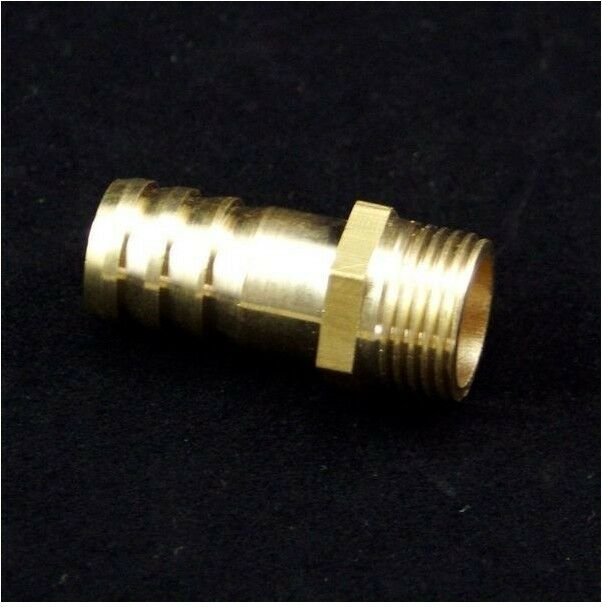 "5pcs 1//4/"" BSPP Female-Fit Tube I//D 6mm Barbed Hose Brass Pipe Connector Adapter"