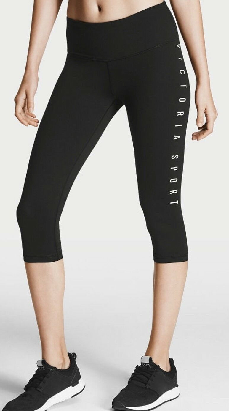 VICTORIA SPORTS ANYTIME CAPRI LEGGINGS COTTON STRETCH