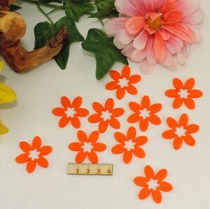 10 Orange Blumen Filz 3 8cm Karten Basteln Geschenk Fruhling