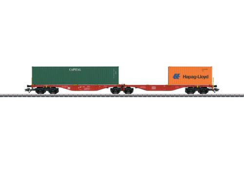 Märklin 47801 doppio contenitore carrello portante packaging Sggrss 80 Merce Nuova