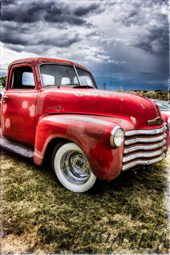 Vintage Art Man Cave 12x18 in Garage Poster 1950 Chevy Pick Up Truck Poster