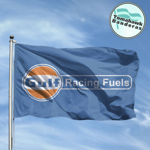 Bandera Flag GULF RACING Drapeau Flagge Fahne Bandiere