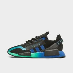 men's adidas nmd r1 v2 casual shoescore black/blue/cloud