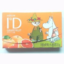 Lotte ID Grapefruit Chewing Stick Gum Moomin and Snufkin 25 g 1 Pack From Korea