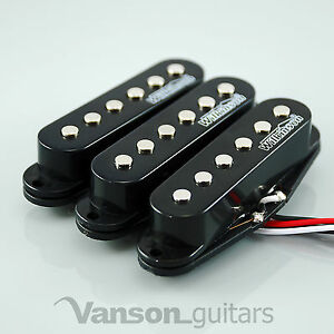 Set of Wilkinson Hot Single Coil Pickups for Strat* Guitars Black MWHS