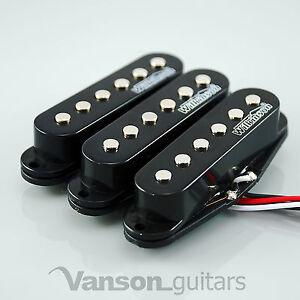 NEW Set of Wilkinson HOT Single Coil Pickups for Strat®* guitars, BLACK MWHS