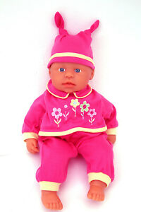 """15"""" FIRST BABY BORN DOLL - SOFT CLOTH BODY - ZAPF CREATION - STOCKING FILLER"""