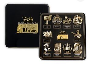 Disney-D23-Twenty-Three-2019-Exclusive-Gold-Member-Pin-Set-10th-Anniversary-Gift