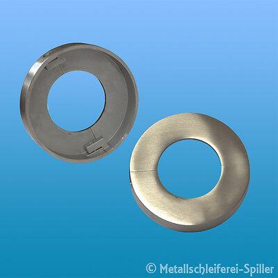 Zweiteilige Rosette V4A geschliffen zur Rondenabdeckung Mittelbohrung /Ø 12,5 mm, /Ø A =45 mm