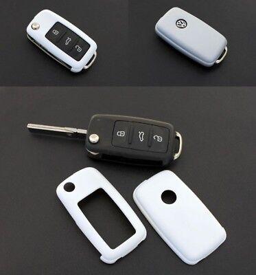 Per Vw Seat Skoda Chiave Pieghevole Cover Key Cover Chiavi Telecomando Bianco -- Ampie Varietà