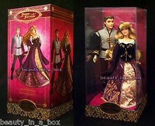 "Aurora Prince Phillip Doll Set Disney Fairytale Designer Sleeping Beauty 3282 """