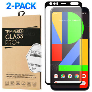 2-Pack-Tempered-Glass-Full-Cover-Screen-Protector-For-Google-Pixel-4-4-XL