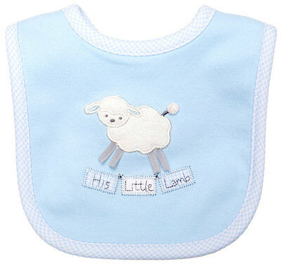 His Little Lamb Baby Bib, Psalm 23, 100% Cotton, by His Gem, Pink or Blue