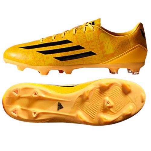Adidas Messi F10 FG Terreno Firme Fútbol Zapatos Solar oro Negro Negro