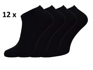 12-Paar-Damen-Sneaker-Socken-Kurzsocken-Sport-Freizeit-duenn-kurz-schwarz-36-41