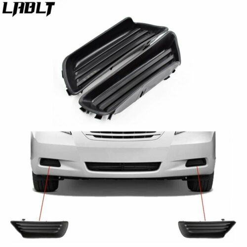 Pair LH /& RH Bumper Fog Light Lamp Covers Inserts Panel For 07-09 Toyota Camry