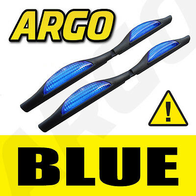 BLUE DOOR GUARD PROTECTORS EDGE STRIP REFLECTORS VOLVO V70 ESTATE