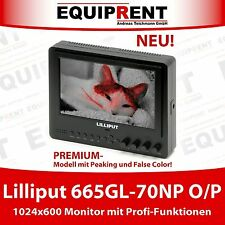 "Lilliput 665GL-70NP O/P: 18cm/7"" LCD HDMI Monitor + Peaking + False Color! EQ507"