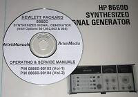 Hp 8660d Operating & Service Manuals 2 Volume Set