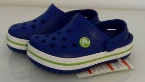 crocs-Kinder-Jungen-Maedchen-Schuhe-Clogs-crocband-Kids-Blau-NEU